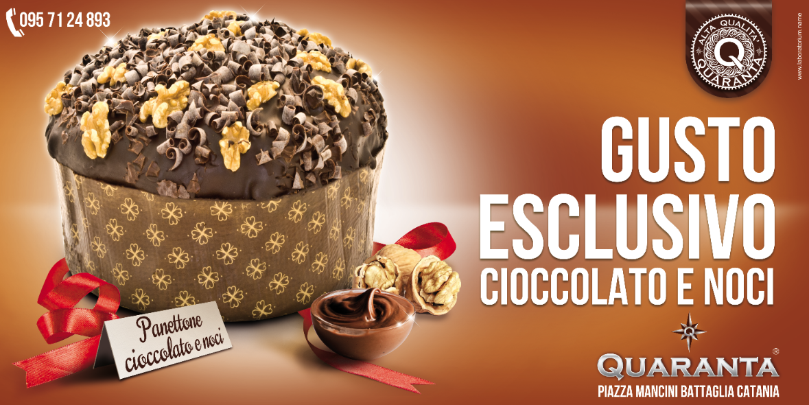 panettone cioccolato advertising