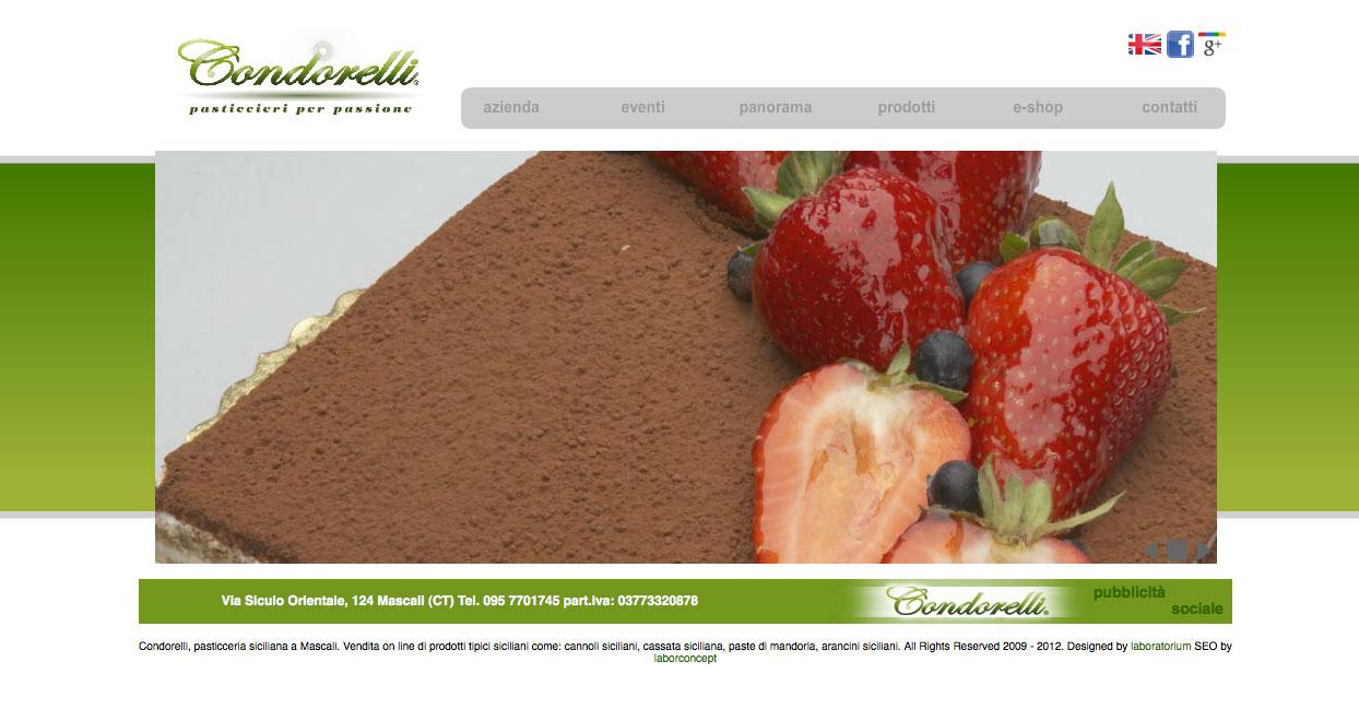 sito web condorelli 2009
